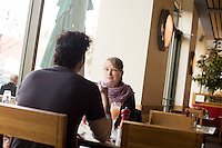 8 October, 2008. New York, NY. Customers have breakfast at the Cookshop Restaurant & Bar in Chelsea, NY.<br /> <br /> ©2008 Gianni Cipriano for The New York Times<br /> cell. +1 646 465 2168 (USA)<br /> cell. +1 328 567 7923 (Italy)<br /> gianni@giannicipriano.com<br /> www.giannicipriano.com