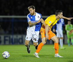 Stuart Sinclair of Bristol Rovers clashes with Stephen McGinn of Wycombe Wanderers - Mandatory byline: Neil Brookman/JMP - 07966 386802 - 06/10/2015 - FOOTBALL - Memorial Stadium - Bristol, England - Bristol Rovers v Wycombe Wanderers - JPT Trophy