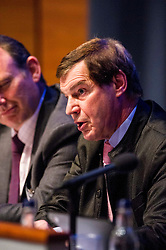 Pictured: Nigel Griffiths<br /> <br /> The Institute and Faculty of Actuaries hosted a flagship European Union referendum debate for around 250 delegates in Edinburgh tonight. Speakers at the event were Matthew Anderson, member of the Advisory Board - Britain Stronger in Europe, Jim Sillars, former deputy leader of the SNP, Jo Shaw, Salvesen Chair of European Institutions, Nigel Griffiths, Labour Leave Scotland and former deputy leader of the House of Commons Nigel Griffiths and  David Bell, Professor of Economics, University of Stirling.<br /> Ger Harley | EEm 5 April 2016