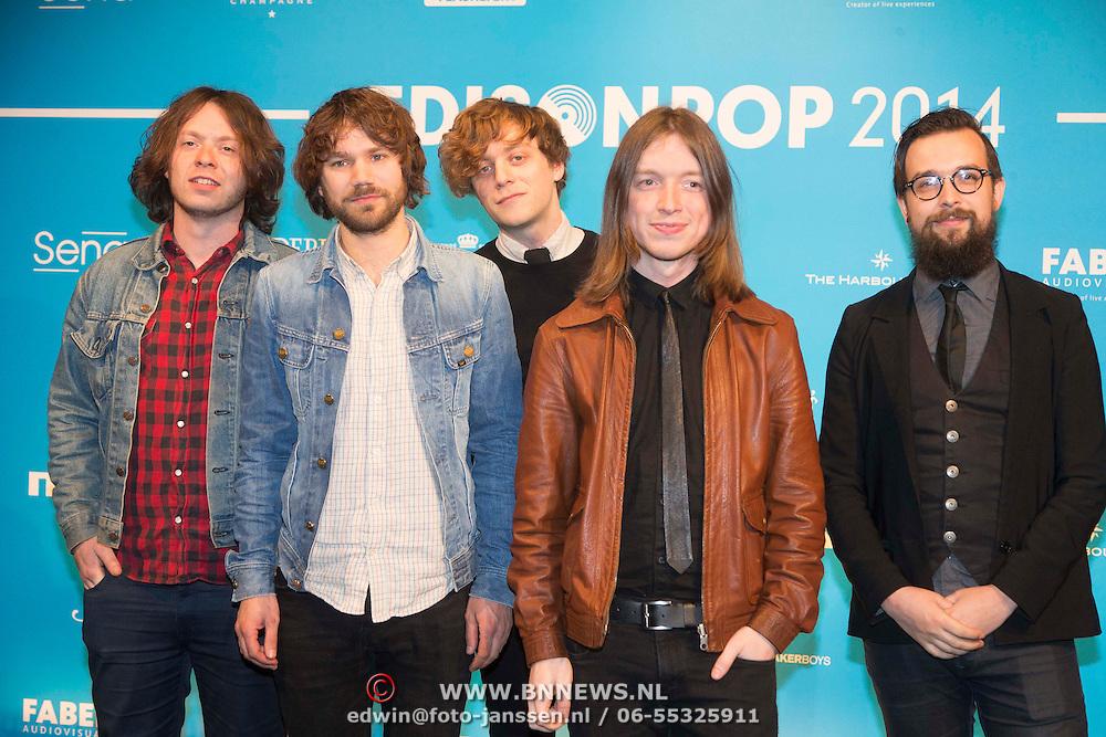 NLD/Amsterdam//20140331 - Uitreiking Edison Pop 2014, Jacco Gardner en band