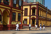 Chine, Macao, architecture coloniale sur Avenida do Conselheiro Ferreira de Almeida // China, Macau, colonial architecture on Avenida do Conselheiro Ferreira de Almeida