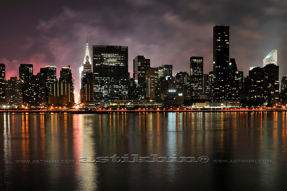 Firework on Hudson River from East River