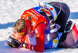 28.02.2019, Seefeld, AUT, FIS Weltmeisterschaften Ski Nordisch, Seefeld 2019, Nordische Kombination, Langlauf, im Bild v.l. Franz-Josef Rehrl (AUT), Bernhard Gruber (AUT) // f.l. Franz-Josef Rehrl Bernhard Gruber of Austria during the Cross Country Competition of Nordic Combined for the FIS Nordic Ski World Championships 2019. Seefeld, Austria on 2019/02/28. EXPA Pictures © 2019, PhotoCredit: EXPA/ Stefan Adelsberger