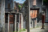 08/09/16 - ORADOUR SUR GLANE - HAUTE VIENNE - FRANCE - Ruines du village martyr d'Oradour sur Glane. Plus grand massacre de civils commis en France par les nazis, 642 victimes - Photo Jerome CHABANNE