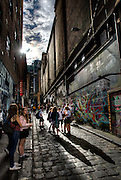 Sunny Melbourne / Modern Melbourne. School kids enjoy Hosier Lane.Pic By Craig Sillitoe CSZ/The Sunday Age.9/05/2012 melbourne photographers, commercial photographers, industrial photographers, corporate photographer, architectural photographers, This photograph can be used for non commercial uses with attribution. Credit: Craig Sillitoe Photography / http://www.csillitoe.com<br />