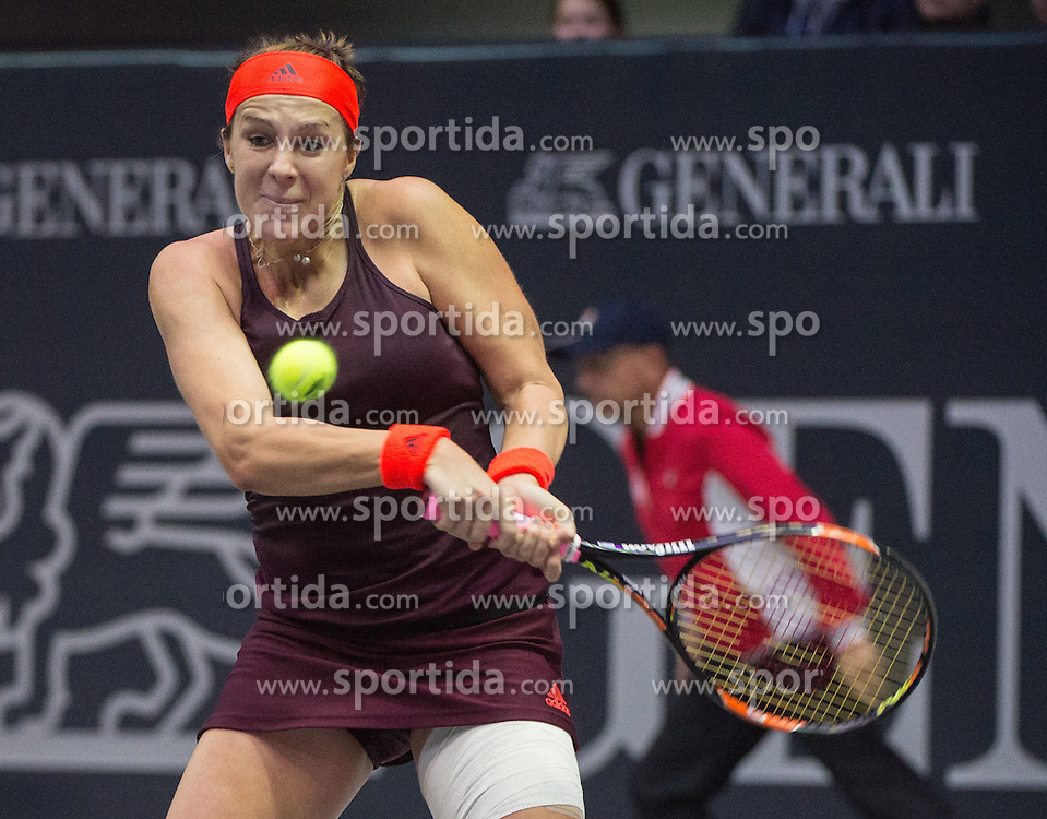 17.10.2015, TipsArena, Linz, AUT, WTA, Generali Ladies Linz, Semifinale, im Bild Anastasia Pavlyuchenkova (RUS) // Anastasia Pavlyuchenkova of Russia during WTA Generali Ladies Linz, Tournament semifinals at the TipsArena, Linz, Austria on 2015/10/17, EXPA Pictures © 2015, PhotoCredit: EXPA/ Reinhard Eisenbauer