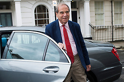 © London News Pictures.. 07/07/2014. London, UK. LORD BRITTAN arriving back at his Pimlico home in London today (07/07/2014). Former Home Secretary Leon Brittan is reported to have been interviewed by police over a historical allegation of rape.Photo credit: Ben Cawthra/LNP