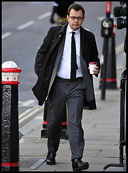 Former Editor of the News of the World Andy Coulson  arrives for the Phone hacking trial at The Old Bailey, London, United Kingdom. Wednesday, 26th February 2014. Picture by Andrew Parsons / i-Images