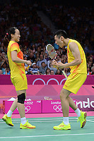 Zhang.N and Zhao.YL, China, Mixed Doubles, Semi-Final Winners, Olympic Badminton London Wembley 2012