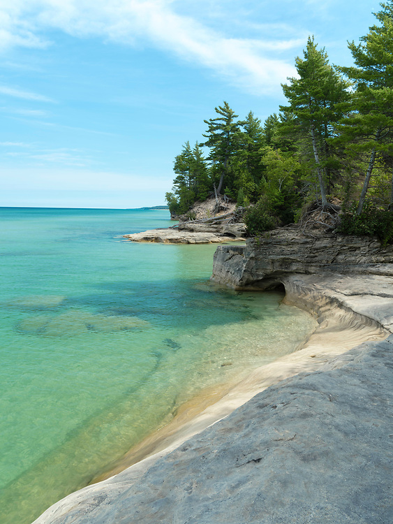 "Image from the area known as ""The Cove,"" Pictured Rocks National Lakeshore, Michigan, USA."