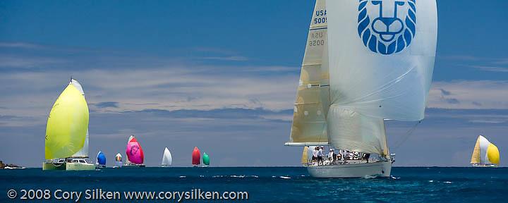 Lolita sailing Race 4 at Antigua Sailing Week.