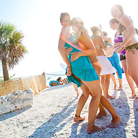 Beach-goers take to the bars along St. Pete Beach in St. Petersburg, Florida.