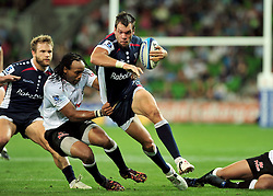 Luke Rooney (Rebels).Melbourne Rebels v The Sharks.Rugby Union - 2011 Super Rugby.AAMI Park, Melbourne VIC Australia.Friday, 11 March 2011.© Sport the library / Jeff Crow