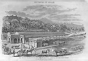 "From ""Souvenirs of Ceylon"" 1868 published by Ferguson. Kandy railway Station"