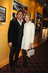 GEORGE & TAMARA VERONI  at a party to celebrate the first year if ING's sponsorship of the Renault Formula 1 team, held at the Mayfair Hotel, Stratton Street, London W1 on 28th November 2007.<br />