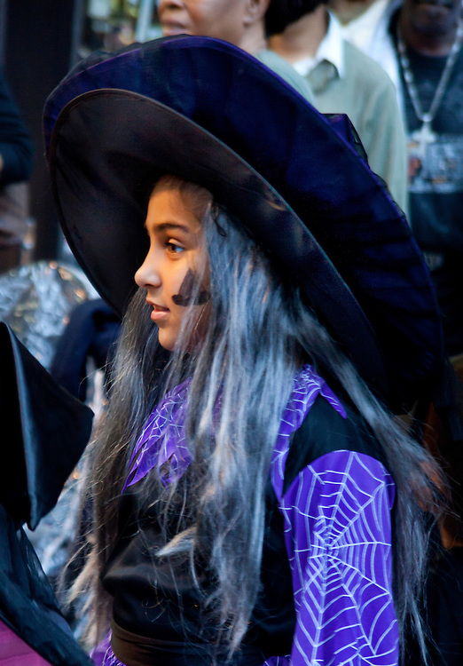 Young Witch. Taken at the Halloween Day Parade in Park Slope, Brooklyn.