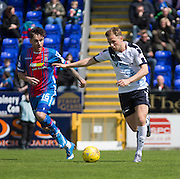 Dundee&rsquo;s Greg Stewart runs at Inverness&rsquo; Greg Tansey  - Inverness Caledonian Thistle  v Dundee, Ladbrokes Scottish Premiership at Caledonian Stadium <br /> <br />  - &copy; David Young - www.davidyoungphoto.co.uk - email: davidyoungphoto@gmail.com