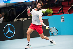 25.10.2018, Wiener Stadthalle, Wien, AUT, ATP Tour, Erste Bank Open, am Donnerstag, 25. Oktober 2018 im Rahmen der ATP - Erste Bank Open, in Wien, im Bild Fernando Verdasco (ESP) // Fernando Verdasco of Spain during the Erste Bank Open of ATP Tour at the Wiener Stadthalle in Wien, Austria on 2018/10/25. EXPA Pictures © 2018, PhotoCredit: EXPA/ Michael Gruber