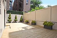 Patio Garden at 159 West 118th Street