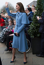 February 28, 2019 - Ballymena, United Kingdom - Image licensed to i-Images Picture Agency. 28/02/2019.  Ballymena, Northern Ireland, United Kingdom. The  Duchess of Cambridge on a walkabout  the Braid Centre in Ballymena on the second day of her trip to Northern Ireland. (Credit Image: © Stephen Lock/i-Images via ZUMA Press)