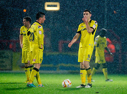 STEVENAGE, ENGLAND - Saturday, November 24, 2012: Tranmere Rovers' Jake Cassidy and Michael O'Halloran look dejected after  Stevenage score a late equalising goal during the Football League One match at Broadhall Way. (Pic by David Rawcliffe/Propaganda)