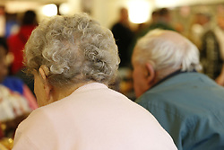 """File photo dated 23/02/14 of older people at a charity tea party in London. The NHS in England is """"failing""""older patients with mental health issues such as depression and anxiety because they are seen as """"second class citizens"""", according to a new report from Age UK."""