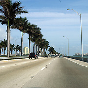 Vakantie Miami Amerika, palmbomen, snelweg, highway