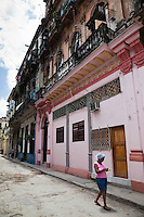 Beautiful colonial building in Old Havana, Cuba.