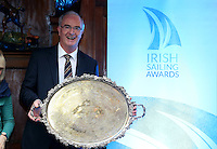 REPRO FREE***PRESS RELEASE NO REPRODUCTION FEE***<br /> Irish Sailing Awards, Royal College of Surgeons, Stephen's Green, Dublin 4/2/2016<br /> National Yacht Club sailor Liam Shanahan was named the 2015 Irish Sailor of the Year today at the Irish Sailing Awards in Dublin - Shanahan had a remarkable year, including victory in the Dun Laoghaire to Dingle race in June on his boat Ruth with two miles to spare.<br /> Kilkenny's Doug Elmes and Malahide's Colin O'Sullivan jointly took home the Irish Sailing Association (ISA) Youth Sailor of the Year award. The Howth Yacht Club sailors were hotly tipped following their recent Bronze medal success at the 2015 Youth World Championships in Malaysia, where they took Ireland's first doublehanded youth worlds medal in 19 years.<br /> The Mitsubishi Motors Sailing Club of the Year award was presented to the Royal Irish Yacht Club in honour of their success at local, national and international level.<br /> Mullingar Sailing Club took home the ISA Training Centre of the Year award, having been nominated as winners of the western-region Training Centre of the Year.<br /> Pictured is  Anthony O'Leary, Sailor of the Month winner.<br /> Mandatory Credit ©INPHO/Cathal Noonan