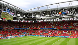 A general view of the stadium during the FIFA World Cup 2018, round of 16 match at the Spartak Stadium, Moscow.