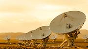 Radio telescopes at the Very Large Array (VLA), Plains of San Agustin, Socorro, New Mexico USA