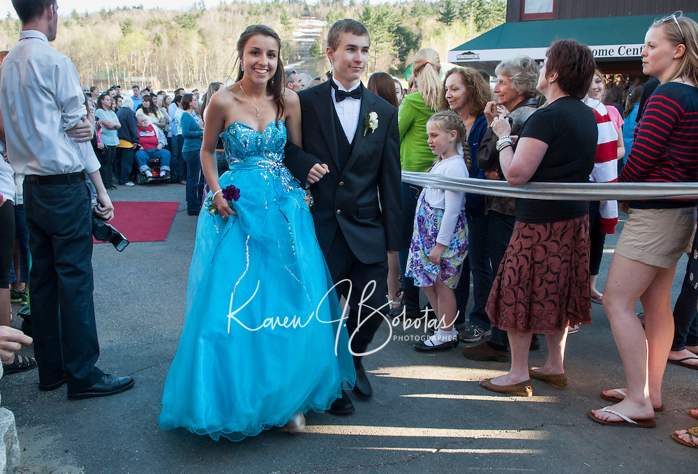 Laconia High School junior prom march at Gunstock Friday, May 3, 2013.  Karen Bobotas for the Laconia Daily Sun