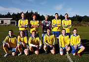 The Garrison Gunners team photo before they play the Woolpack Wanderers  in a Charity Shield match on the island of St. Marys in the Isles of Scilly Sunday Nov. 11, 2007 Picture by Christopher Pledger/The Daily Telegraph.Back Row LtoR Tim Stone (postman), Sam Campos (chef), Chris Webb (taxi driver), Raphael Ward (student), Adam May (PE teacher)..Front Row LtoR Matt Thompson (council worker), James Watt (Radio Scilly), Alex le Frec (chef), Chris Evans (chef), Steve Pritchard (student), and Sam Eaton (student).
