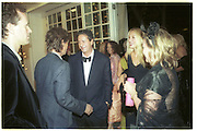 Mick Jagger, Charles Saatchi, Jerry Hall and Kay Saatchi. 30th Aniversary Gala Dinner, Serpentine Gallery.20 June 2000<br />© Copyright Photograph by Dafydd Jones 66 Stockwell Park Rd. London SW9 0DA Tel 020 7733 0108 www.dafjones.com
