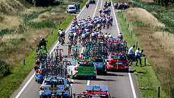 Peloton with crash of Giant-Shimano and Telenet riders, Stage 5: Gerwen > Boxtel, Ster ZLM Toer, UCI 2.1, Europe Tour, Boxtel, The Netherlands, 22th June 2014, Photo by Pim Nijland / Peloton Photos