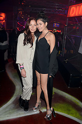 Left to right, CLARA PAGET and ELIZA DOOLITTLE at Club DNKY in celebration of #DKNYARTWORKS held at The Firestation, Lambeth High Street, London SE1 on 12th June 2013.