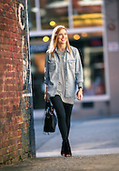 Emily Helm likes to use the downtown area for her fashion shoots, Thursday, February 18, 2016, in Greensboro, N.C.<br /> <br /> Emily Helm began the fashion blog Life With Emily in 2011 during her junior year of college at Appalachian State University. Now, the 25-year-old Greensboro resident routinely shares her fashion style with over 65,000 social media followers.