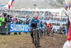 Mical Dyck (CAN), Women Elite, Cyclo-cross World Championships Tabor, Czech Republic, 31 January 2015, Photo by Pim Nijland / PelotonPhotos.com