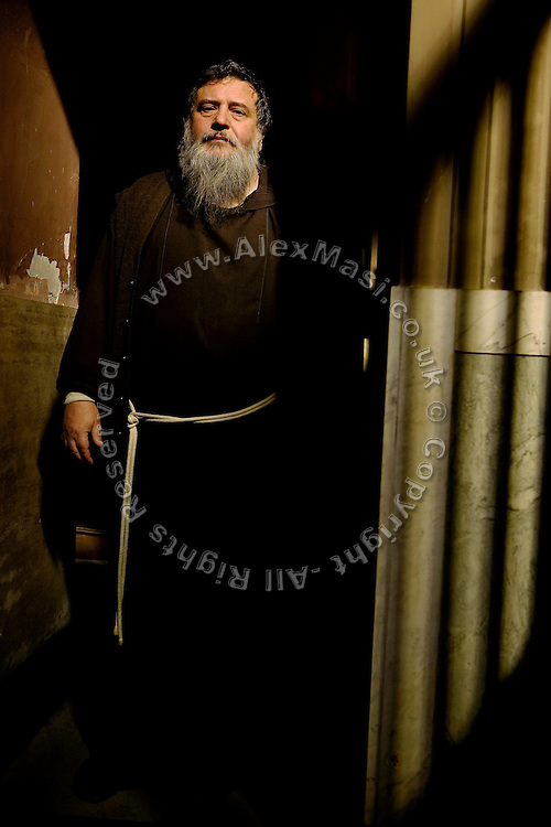 Father Carmine de Filippis, 55, from The Church of Immacolata Concezione (Church of Cappuccini), in Rome, Italy, is portrayed in his church. He has been an exorcist since 1983.<br /> <br /> FOR MORE INFORMATION PLEASE WRITE TO ALEX@ALEXMASI.CO.UK<br /> <br /> **TEXT AND LENGHTY INTERVIEWS AVAILABLE**