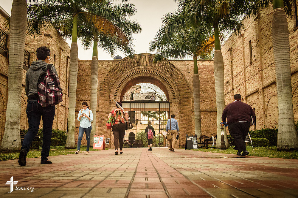 Students and faculty arrive at the University of Texas Rio Grande Valley early Monday, April 18, 2016, in Brownsville, Texas. The university is a site of future campus ministry work.  LCMS Communications/Erik M. Lunsford