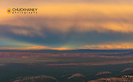 Dramatic sunset lighting after storm from the East Rim in Grand Canyon National Park, Arizona, USA