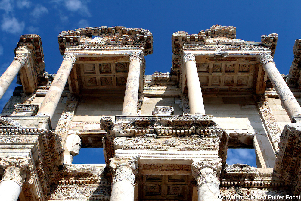 June 1, 2014 - A library in the ancient city of Ephesus (Turkish: Efes), located near the Aegean Sea in modern day Turkey, was one of the great cities of the Greeks in Asia Minor and home to the Temple of Artemis, one of the Seven Wonders of the World. Today, the ruins of Ephesus are a major tourist attraction, especially for travelers on Mediterranean cruises. Ephesus is also a sacred site for Christians due to its association with several biblical figures, including St. Paul, St. John the Evangelist and the Virgin Mary.