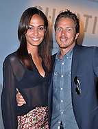 JOAN SMALLS AND JASON LEWIS.Mercedes Benz Fashion Week, Berlin_5/07/2012..MANDATORY PHOTO CREDIT: ©Mercedes/NEWSPIX INTERNATIONAL  . .(Failure to by-line the photograph will result in an additional 100% reproduction fee surcharge. You must agree not to alter the images or change their original content)..            *** ALL FEES PAYABLE TO: NEWSPIX INTERNATIONAL ***..IMMEDIATE CONFIRMATION OF USAGE REQUIRED:Tel:+441279 324672..Newspix International, 31 Chinnery Hill, Bishop's Stortford, ENGLAND CM23 3PS.Tel: +441279 324672.Fax: +441279 656877.Mobile: +447775681153.e-mail: info@newspixinternational.co.uk