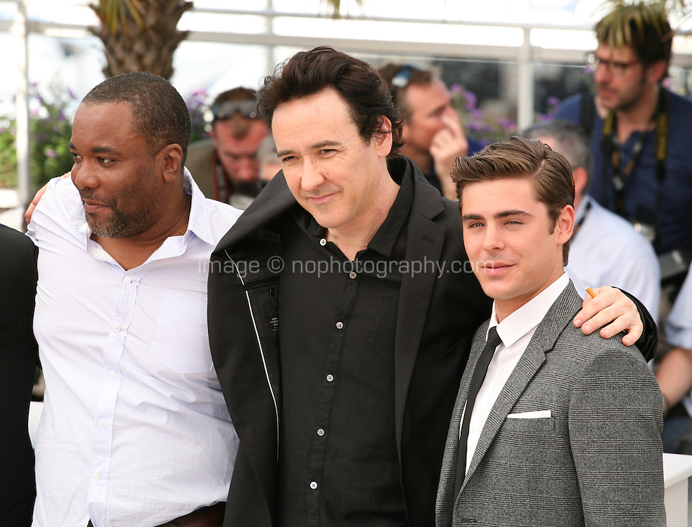 Matthew Mcconaughey, Lee Daniels, John Cusack,  Zac Efron,  Lee Daniels, John Cusack,  Zac Efron,  at The Paperboy photocall at the 65th Cannes Film Festival France. Thursday 24th May 2012 in Cannes Film Festival, France.