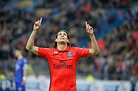 Edinson Roberto Paulo Cavani Gomez (psg) (El Matador) (El Botija) (Florestan) marque le 3eme but - joie
