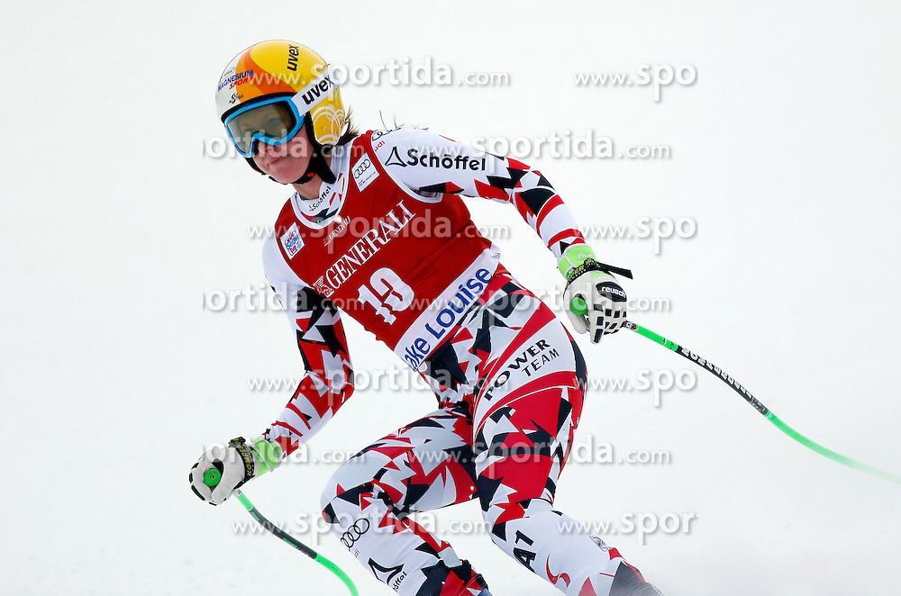 05.12.2015, East Summit Course, Lake Luise, CAN, FIS Weltcup Ski Alpin, Lake Luise, Damen, Abfahrt, Rennen, im Bild Cornelia Huetter (AUT, 3. Platz) // 3rd placed Cornelia Huetter of Austria during the race of ladies downhill of the Lake Luise FIS Ski Alpine World Cup at the East Summit Course in Lake Luise, Canada on 2015/12/05. EXPA Pictures &copy; 2015, PhotoCredit: EXPA/ SM<br /> <br /> *****ATTENTION - OUT of GER*****