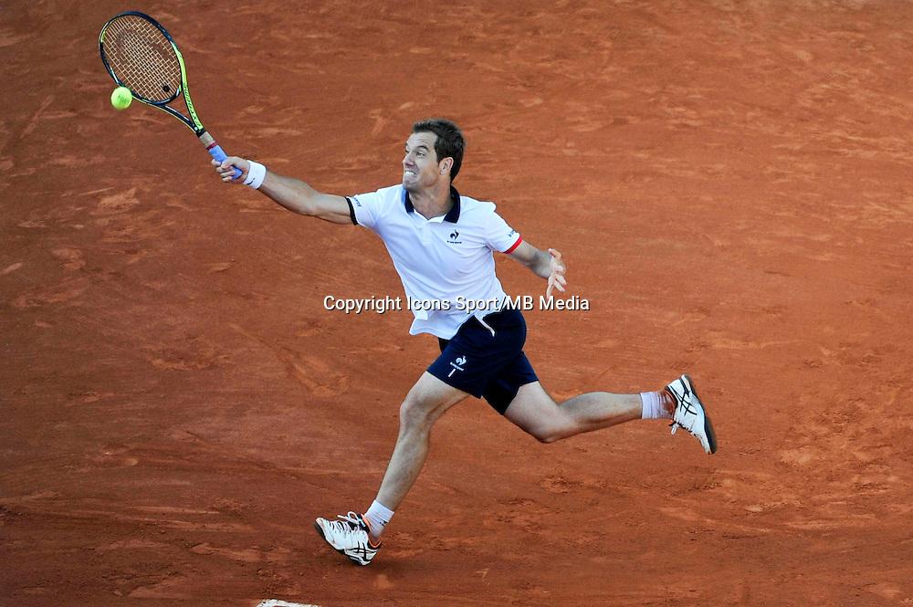 Richard GASQUET  - 01.06.2015 - Jour 9 - Roland Garros 2015<br /> Photo : Nolwenn Le Gouic / Icon Sport
