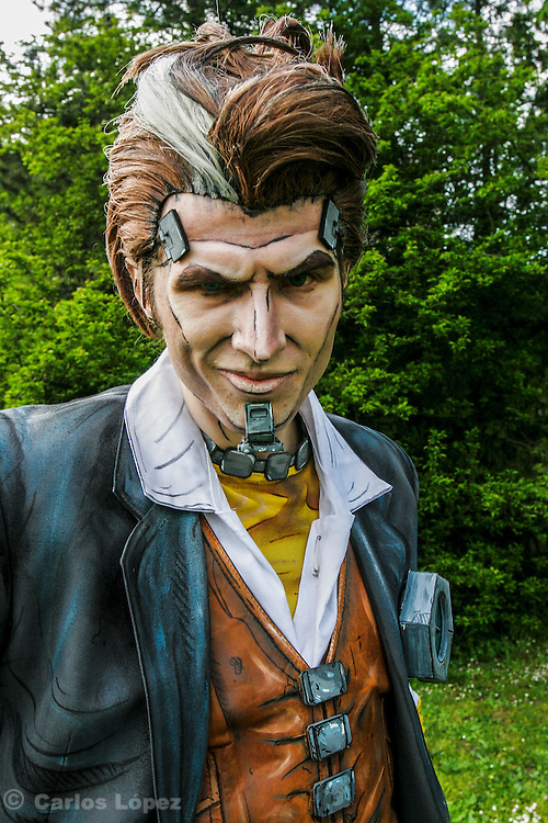 Handsome Jack  from Borderlands.  Cosplayer at Animefest 2015 in the city of Brno, czech republic.