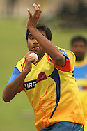 Ravichandran Ashwin of the Chennai Super Kings during the Superkings training session held at St Georges Park in Port Elizabeth on the 20 September 2010..Photo by: Shaun Roy/SPORTZPICS/CLT20