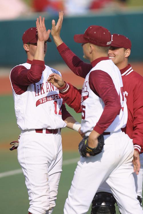 University of Arkansas Razorback Baseball Team action photography during the 2001-2002 season.
